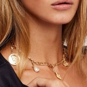 Free People Mix and Match Charm Necklace